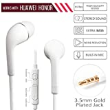 nabster Huwai Honor 8X Compatible Headphones with Mic for Smartphones 3.5mm Jack
