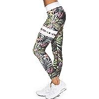 LaLaAreal Mallas Deportivas Mujer Leggins Yoga Pantalon Elastico Cintura Altura Polainas para Running Pilates Fitness