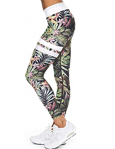 LaLaAreal Tight Damen Leggings Yoga Pilates Pantalon Elastico Bund Höhe Gamasche für Running Fitness XL grau