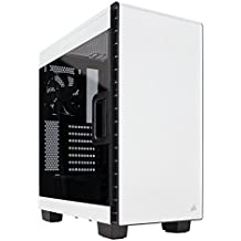 Corsair Carbide Clear 400C Midi-Tower Color blanco - Caja de ordenador (Midi-Tower, PC, Acero, ATX, EATX, Micro-ATX, Mini-ITX, Color blanco, 1x 140 mm)