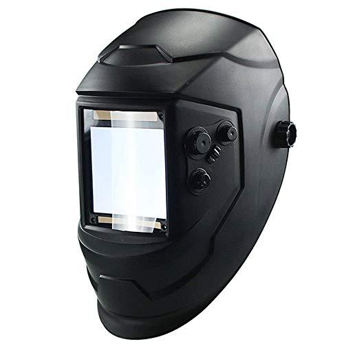 LXB Oscuramento Automatico del Casco di Saldatura, Doppia Alimentazione Solare + Batteria, Filtro di oscuramento Automatico Eccellente Protezione degli Occhi, Adatto per Auto, Costruzioni.
