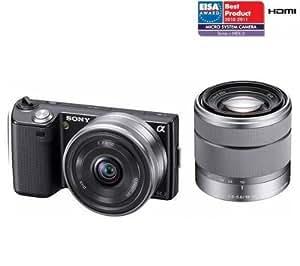 SONY NEX-5D noir + objectif 18 - 55 mm + objectif 16 mm . + GARANTIE 2 ANS!