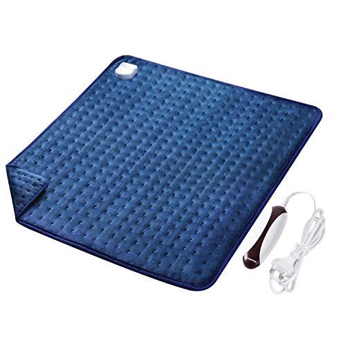 MaxKare Großes Elektrisch Heizkissen (50 x 60cm) Wärmekissen mit Abschaltautomatik und Temperatureinstellung in 5 Stufen Weiche Oberfläche für Rücken Nacken Schulter und Waschmaschinenfestes Gewebe