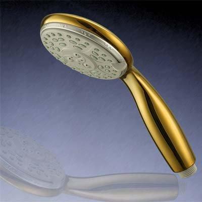 HAC24 Designer Duschkopf Handbrause Gold | Duschbrause Kopfbrause Edelstahl | Wellness Brausekopf Mit 3 Funktionen