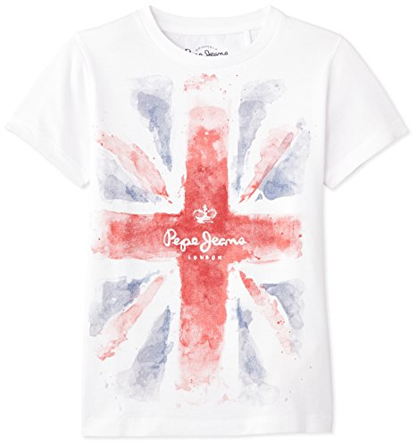 pepe-jeans-pb500575-t-shirt-uni-garcon-blanc-white-fr-12-ans-taille-fabricant-s