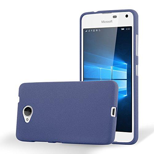 Preisvergleich Produktbild Cadorabo Hülle für Nokia Lumia 650 - Hülle in Frost DUNKEL BLAU – Handyhülle aus TPU Silikon im matten Frosted Design - Silikonhülle Schutzhülle Ultra Slim Soft Back Cover Case Bumper