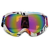 8-15 Jahre Alt Kinder Farbe Ski Brille Doppel Anti-Fog Wind Karte Myopie,B-OneSize