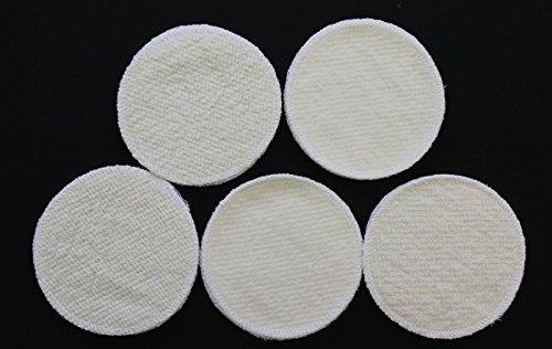 20 Stück Stilleinlagen Wolle/Bourette Seide 12 cm Mehrweg Einlagen waschbar NEU