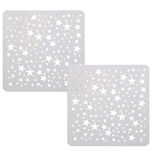 Trixes Zeichenschablonen Vorlagen Mini Sterne für Scrapbooking Karten Bastelarbeiten etc. - Stern-schablonen