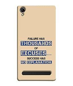 FUSON Designer Back Case Cover for Intex Aqua Power Plus :: Intex Aqua Power + (Quote Love Heart Messages Crazy Express Sorry )