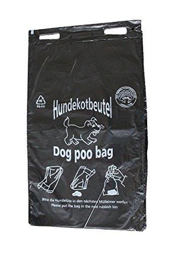 Hundekotbeutel Öko Farbe schwarz bedruckt weiß abreissbar 20 x 32 cm (1000 Stück)