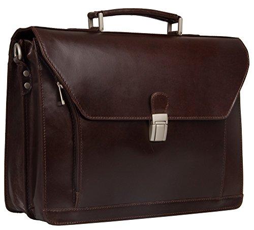 Executive Veg Hellbraun Echtes Leder Notebook Aktentasche Tasche, (braun) -