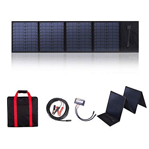 Betop-camp Pannello Solare Pieghevole Portatile da 60W 12V con Regolatore di Carica Solare da 20 A per Camper, Roulotte, Raduni di Camper, Riere