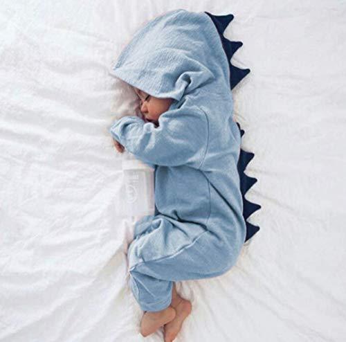 ostüme Neugeborenes Baby Jungen Mädchen Unisex Strampler Mit Kapuze Langarm Onesies Overall Outfits für Halloween,Blue,60cm ()