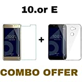 M.G.R.J Tempered Glass + Transparent Back Cover [Combo Pack] for 10.or E