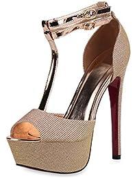 6427fa9ef0e98e Suchergebnis auf Amazon.de für  glitzer high heels - Pink   Damen ...