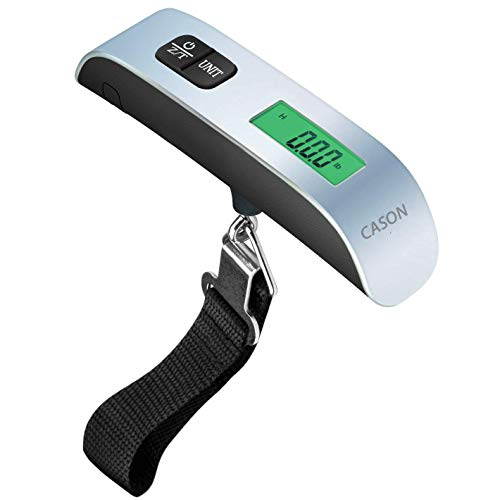 CASON (DEVICE OF C) -ABS 10g to 50 kg Luggage Scale Digital Weighing Travel Bag Weight Checker Hanging Weight Scale with Belt (Grey)