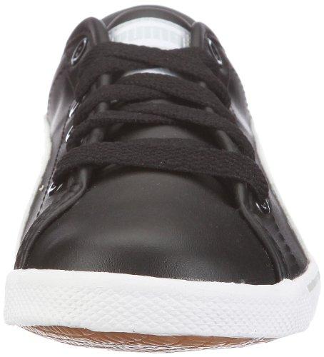 Puma Benecio Jr 351674 Unisex - Kinder Sneaker Schwarz (black-white-gray violet 17)