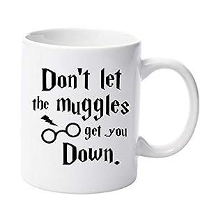 """Acen Keramik-Tasse mit der Aufschrift """"Dont Let The Muggles Get You Down"""", Weiß, 325 ml"""