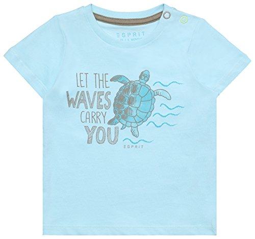 ESPRIT Baby-Jungen T-Shirt RL1021204, Blau (Light Sea 407), 92