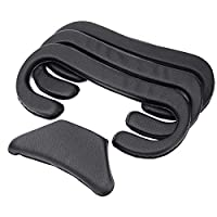 KIWI design VR Face Cover Replacement for HTC Vive Pro Headset Cover Foam Cushion with Cleaning Kit 12mm/10mm/6mm 4 Packs