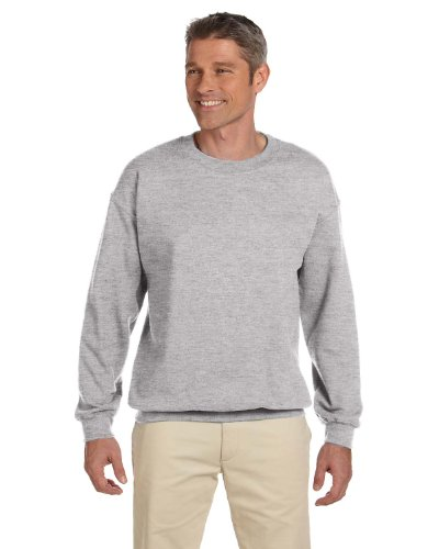 Herren 9,7 oz.Ultimate Cotton 90/10 Fleece Crew F260 -LICHT STAHL 2XL (Crew Ultimate Cotton Sweatshirt)