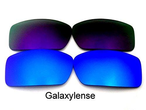 Galaxylense Ersatzgläser für Oakley Gascan Violett & Blau Farbe Polarisierend 2 Paar,GRATIS S & H - Violett & Blau