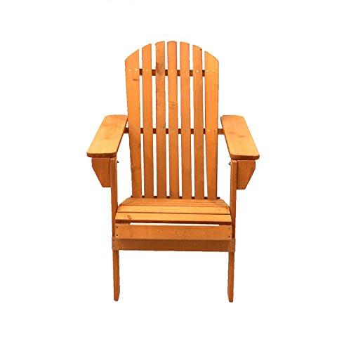 Oypla 3844OYP Wooden Outdoor Garden Adirondack Folding Chair Patio Furniture, Multi-Colour, 36.34 x 10.43 x 6.69 cm