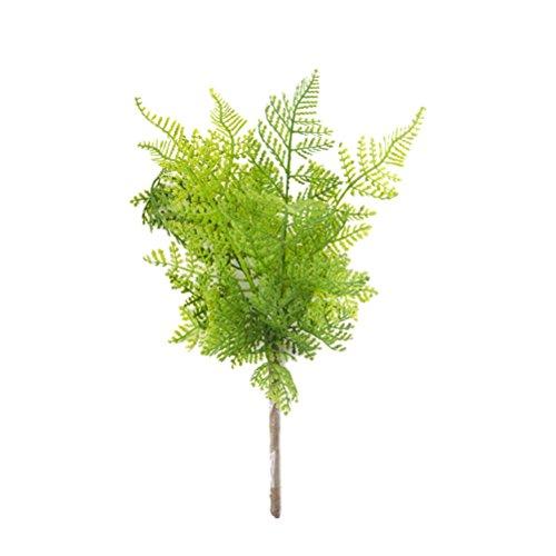 Vosarea Kunststoff Farn Büsche Sträucher Blätter Deko Dekopflanze Kunstpflanze für Zuhause Garten Büro Veranda Hochzeit Dekoration 2 Stücke