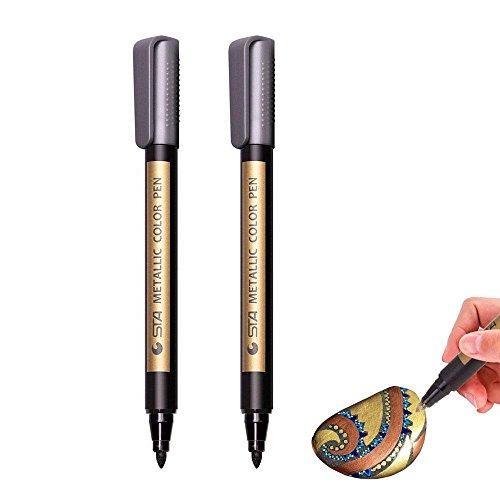 AOLVO Marcadores finos metálicos Pinturas bolígrafos
