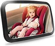 Baby Car Mirror, Safety Car Seat Mirror for Rear Facing Infant with Wide Crystal Clear View, Shatterproof, Ful