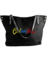 Its Colombia Not Columbia Womens Tote Bags Canvas Shoulder Handbags Satchel Bag