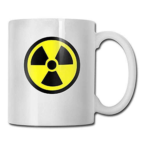 DHIHAS Strong Stability Durable Kaffeebecher Radiation Warning Tea Cup Novelty Gift for Birthday -