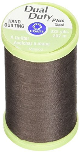 Coats: Thread & Zippers Manteaux Filetage et Fermetures à glissière Double Duty Plus Main Quilting Filetage, 297,2 m, Chona Marron