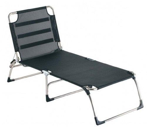 Trois Noir Fiam Amigo Chaise longue Big (sans Traversin) Extra Large 40 x 75 x 207 cm