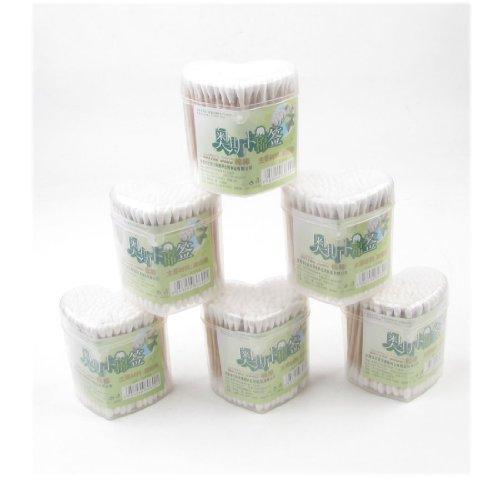 sourcingmapr-1200-pieces-double-extremite-transparent-beige-en-bois-tube-coton-tampon-bourgeon-cerum