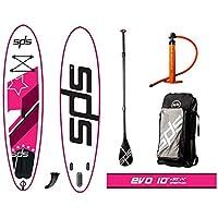 "SPS EVO 10 x30""x4"" Rosa Tabla Paddle Surf Hinchable FSLU Allround Pack c6ae28d0876"