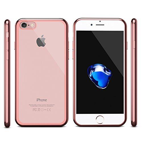 Ensembles iPhone 7 Vitre Film Protection Verre Trempé (2 Pièces) & Coque, OMOTON Protecteur Ecran Et Coque Argenté Gold
