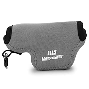 MegaGear MG1580 Ultra Light Neoprene Camera Case compatible with Leica D-Lux 7, D-Lux (Typ 109) - Gray