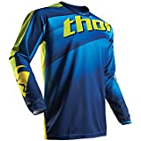 Maillot Cross THOR Pulse Velow - Navy / Lime - Gamme 2017 - Taille S