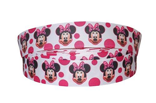 Pimp My Shoes Dekoband, Ripsband, Motiv: Minnie Maus und Punkte, 2 m x 22 mm, ideal für Geschenke/Kuchen etc.