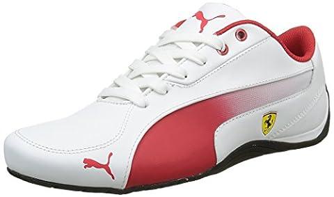 Puma Drift Cat 5, Unisex Adults' Trainers, Bianco (White/Red Corsa