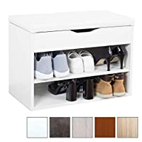 RICOO Shoe Rack with Seat and Storage Space WM032