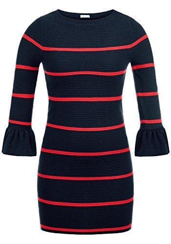 JACQUELINE de YONG by Only Rike Damen Strickkleid Feinstrickkleid Kleid Mit Rundhals Und...