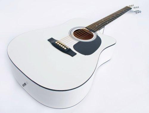 Westerngitarre mit Cutaway (weiss)
