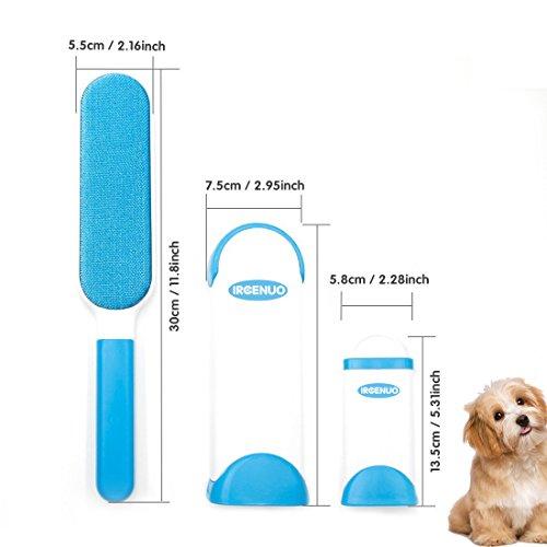 Pet Pinsel, Fell & Fusseln Haarentferner Roller mit selbstreinigendem entfernen Hund Cat Hair (blau) - 2