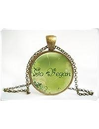 Go Vegan Vegetarian Pendant