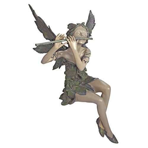 Design Toscano by Blagdon CL5276 - Decorative figure for garden (resin), design of the fairy of the west wind sitting