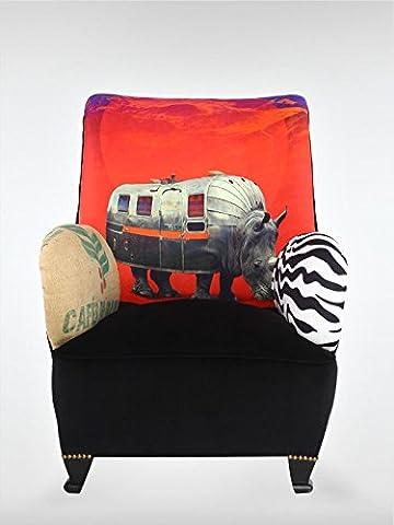 Vintage Sessel 1980 bunt SD78