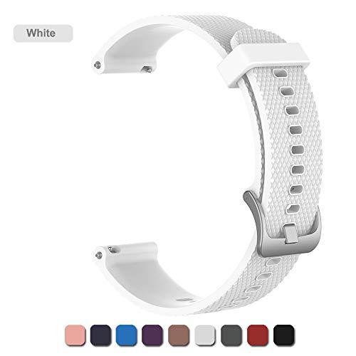 cinturino per garmin vivomove hr orologi (20mm/22mm band), cinturini di ricambio in silicone braccialetto da sport fitness bracciale da polso per garmin vivomove hr (bianco, 20mm)